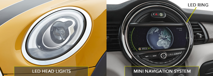 MINIクーパーS LEDヘッドライトとナビゲーション