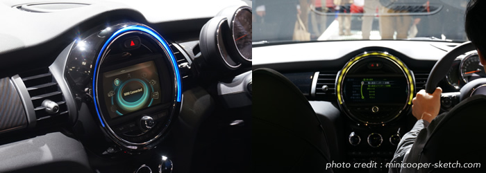 新型ミニのLEDリング ブルーとイエローの発光