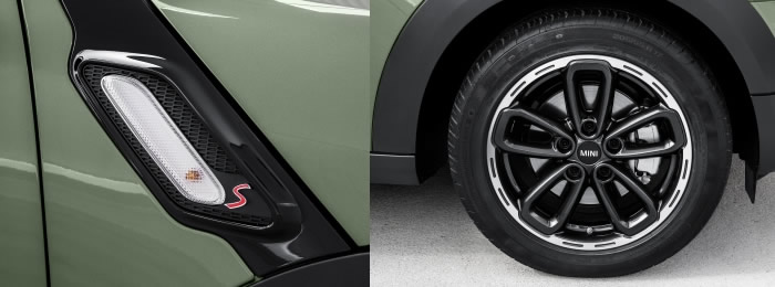 ミニクロスオーバー r60 2015年モデル サイドスカットルとホイール