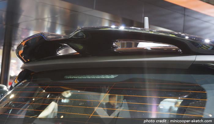 MINIクーパーS F56 リアスポイラーの下側