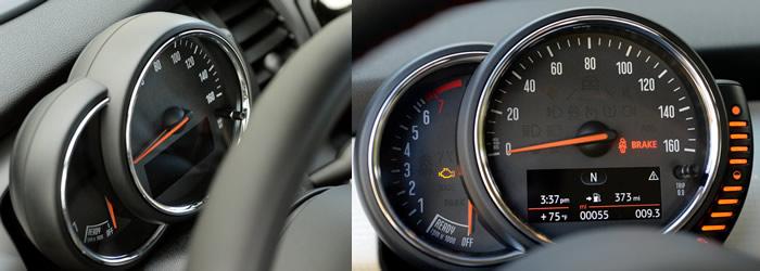 MINI F56 スピードメーターとタコメーター