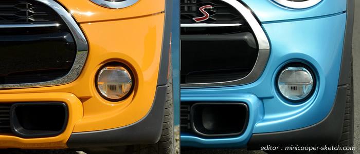 ミニクーパー ソリッドカラーとメタリックカラーの違い