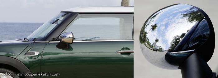 MINI F56 クローム ミラーキャップ