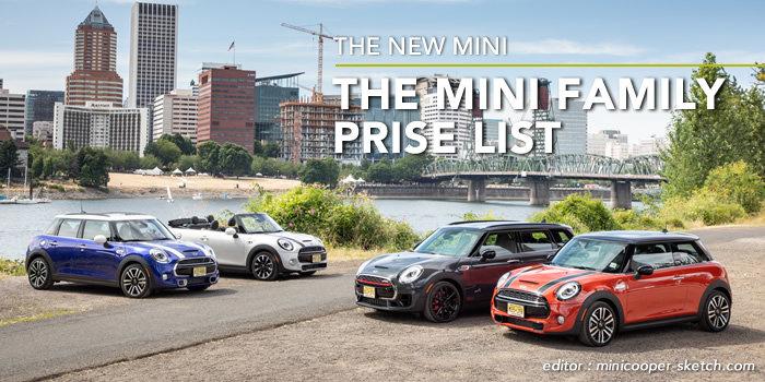 ミニクーパーの最新ラインアップ 価格表