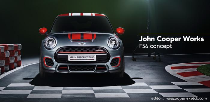 MINI John Cooper Works  F56 2014 コンセプト フロント