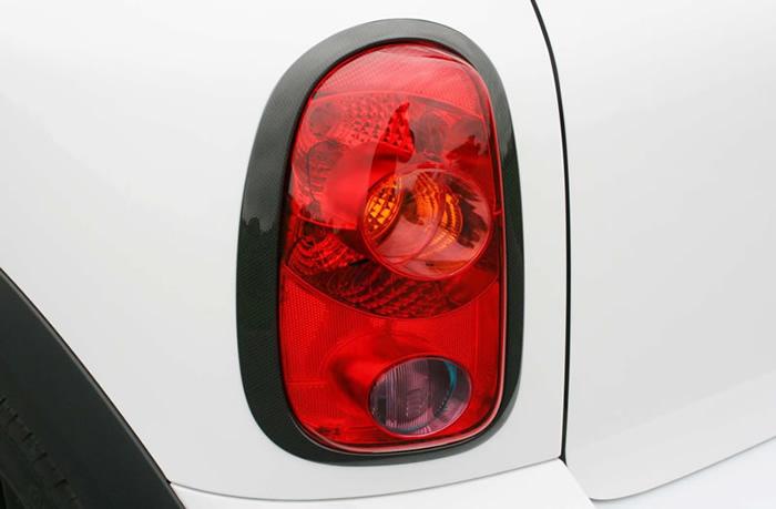 ミニクロスオーバー R60 テールランプカバー カーボン柄