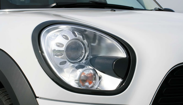 ミニクロスオーバー R60 ヘッドライトリングカバー カーボン柄