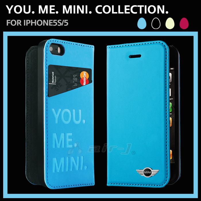 ミニクーパー iphone5 手帳型 ブルー