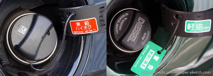 ミニクーパーの燃料 ハイオクとディーゼル