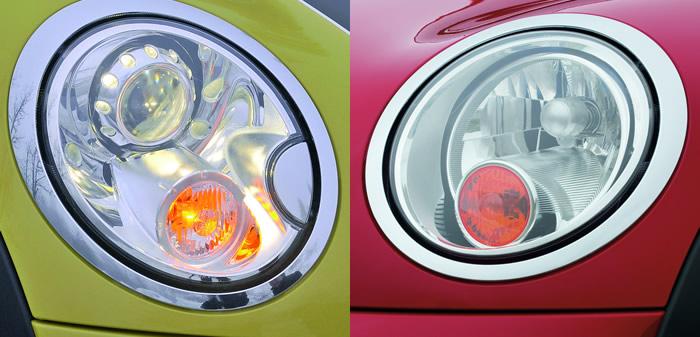 MINI R56 純正キセノンヘッドライトとハロゲンヘッドライト