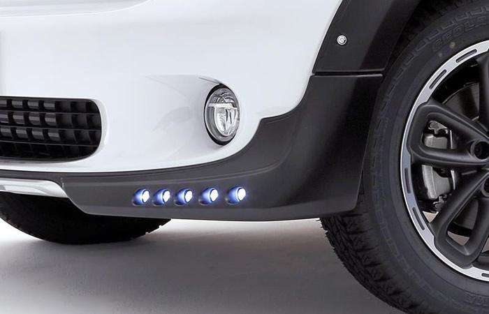ジャオス ミニクロスオーバー R60 フロントスポイラー LEDデイライト