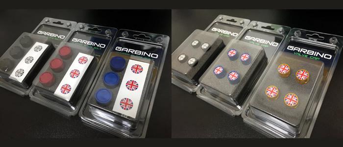 ガルビノ ナンバープレートボルトとバルブキャップ パッケージ