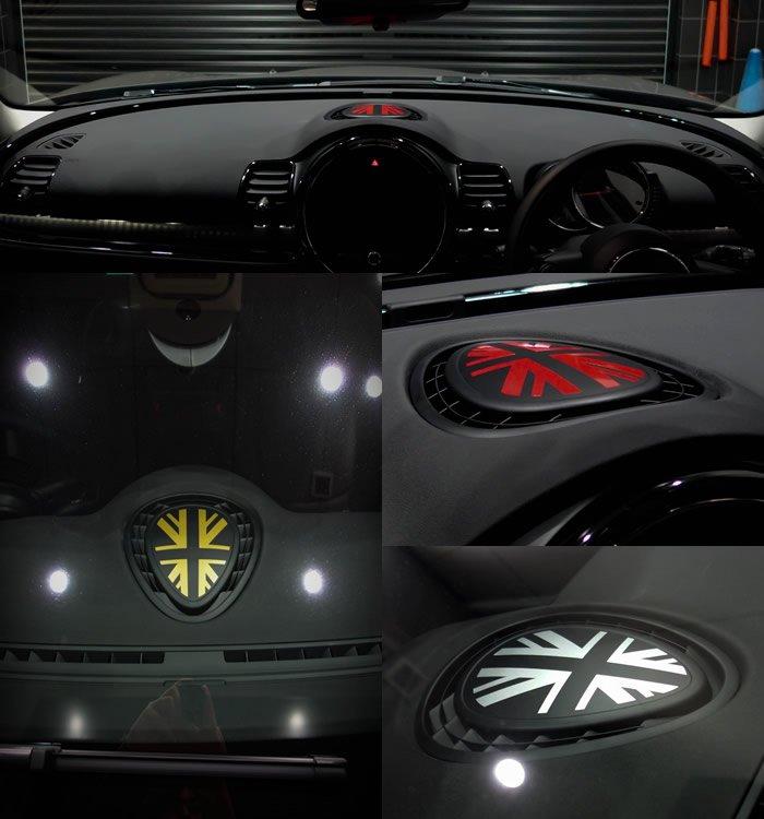 MINI F系 ユニオンジャック ダッシュボードステッカー クラブマンの装着例