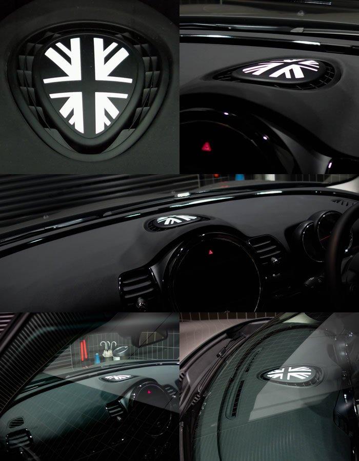 MINI F系 ユニオンジャック ダッシュボードステッカー ホワイト