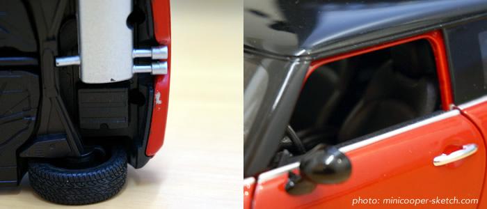 WELLY F56 ミニクーパーのミニカー レッド