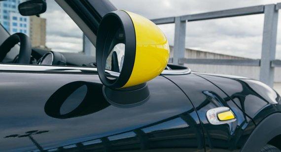 ミニクーパー F56 F55 レイ アクセサリー ミラーキャップとサイドスカットル レモンイエロー