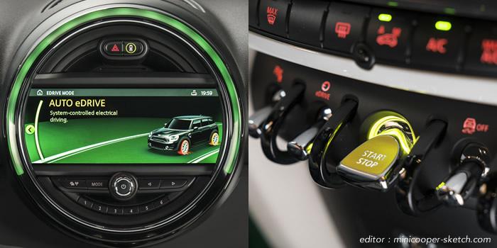 ミニクロスオーバー F60 ミニクーパーS E ALL4 PHEV(プラグインハイブリッド) EV走行モード