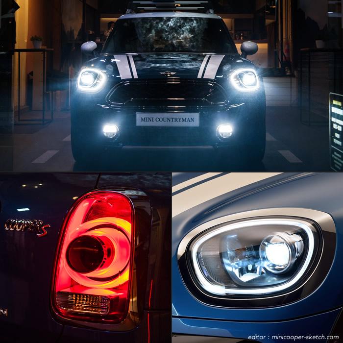 クロスオーバー F60 ミニクーパーSD ALL4 LEDヘッドライト LEDデイライトリング