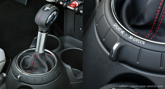 MINI F56 F55 F57 F54 F60 2017年7月の変更 変更前のドライビングモードのスイッチ