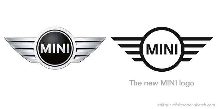ミニ 旧ロゴと新ロゴの比較