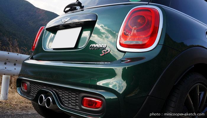 ミニ3ドア F56 ミニクーパーSD ブリティッシュレーシンググリーン&ブラックルーフ