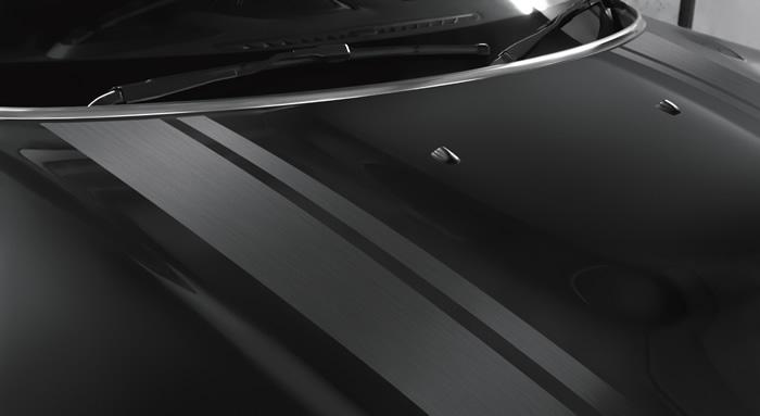 ミニクロスオーバー F60 限定車 ブラックヒース 専用ボンネットストライプ