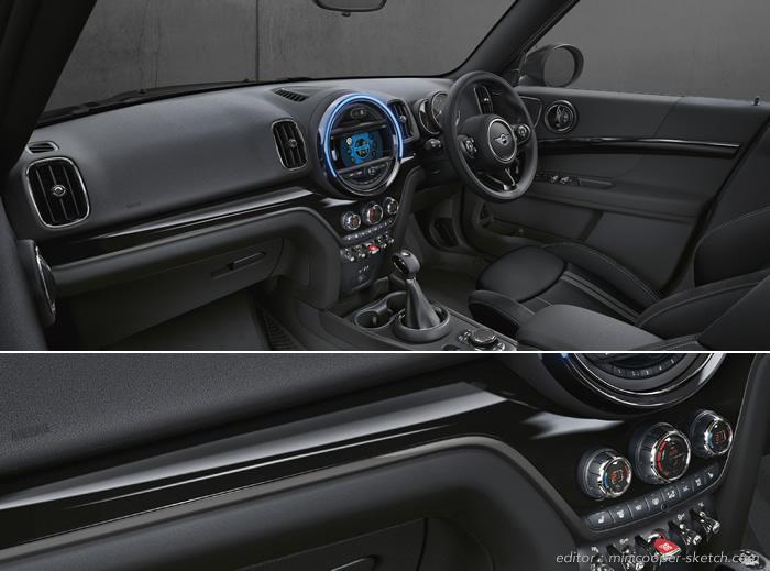 ミニクロスオーバー F60 限定車 ブラックヒース インテリア