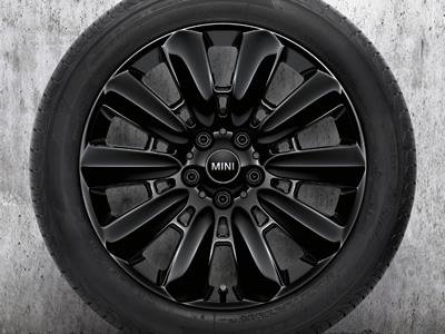 ミニクロスオーバー F60 ブラックヒース 18インチホイール ピンスポーク ブラック