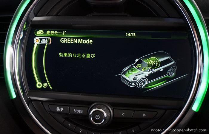 ミニドライビングモード グリーンモード