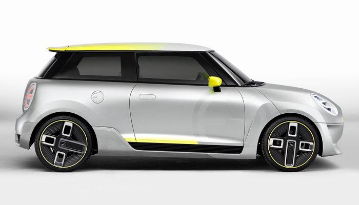 MINI E(電気自動車)コンセプトモデル サイドビュー