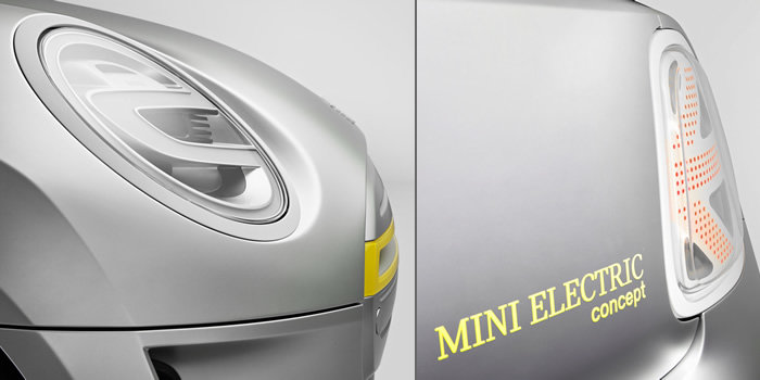 MINI E(電気自動車)コンセプトモデル ヘッドライトとリアコンビランプ