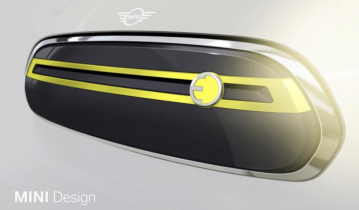 MINI E(電気自動車)フロントグリルのデザインスケッチ