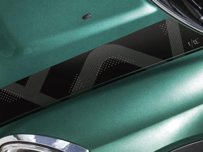 ミニクロスオーバー F60 専用デザインのブラックストライプ