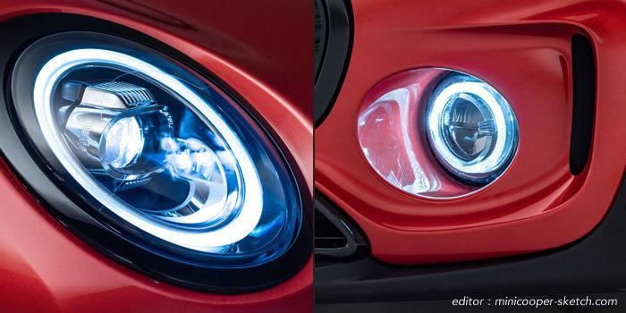 ミニクラブマン ミニクーパーS F54 マイナーチェンジ LEDヘッドライトとLEDフォグランプ