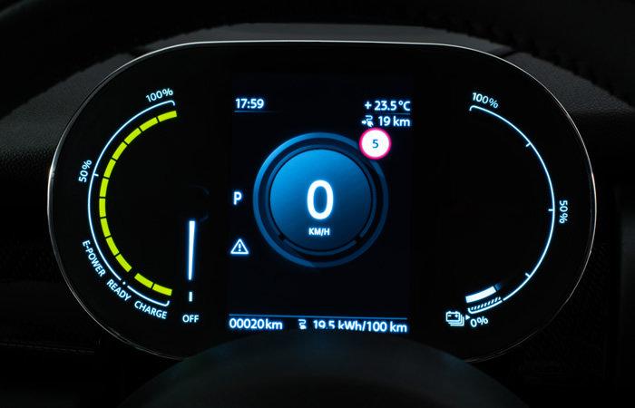 ミニクーパーSE 電気自動車 ディスプレイ