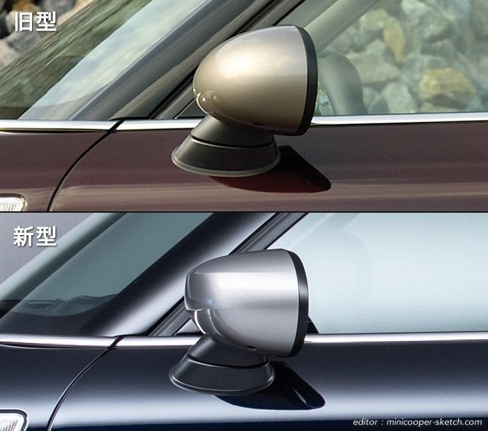 ミニクーパー 2019年の仕様変更 ドアミラー 新旧の比較
