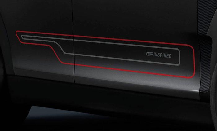 F54 ミニ ジョンクーパーワークス クラブマン ジーピーインスパイアードエディション 専用サイドストライプ
