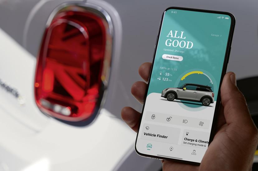 ミニクーパー スマホアプリ MINI App 車両ステータス表示